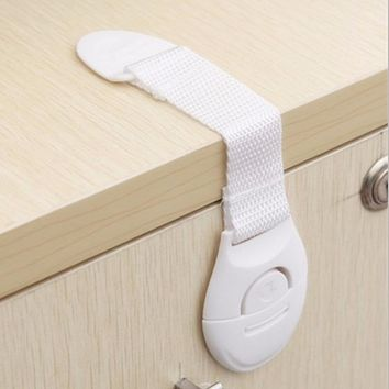 Cabinet Door Drawers Refrigerator Toilet Lengthened Bendy Safety Cloth Belt Plastic Locks For Child Kid Baby Safety
