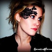 Supermarket - Black Lace Tattoo/Mask - ADHERES TO SKIN from LacedAndWaisted
