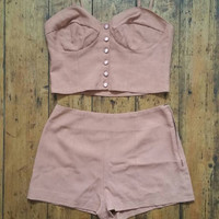 Ladies vintage 70s bohemian clothing bralette top bralet tops shorts matching set bra sets womens  summer clothes Dolly Topsy Etsy UK