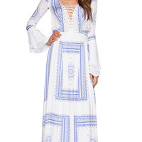 THE JETSET DIARIES Santorini Maxi Dress in White