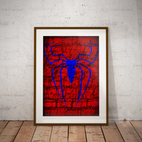 Spider-Man Symbol Graffiti Style Nerdy Printable Digital Download