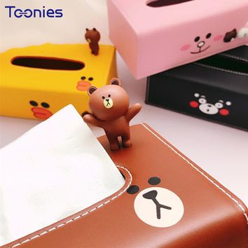 Durable Napkin Holder for the Car Styling Tissue Holder Paper Leather Boxes Cute Ornament Decor Auto Toy Mini Cooper F54 F55 F56
