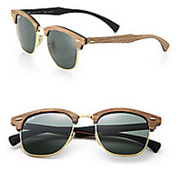 Ray-Ban - Wooden 51MM Square Sunglasses - Saks Fifth Avenue Mobile