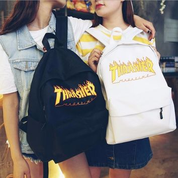 shosouvenir Thrasher Casual Sport Laptop Bag Shoulder School Bag Backpack