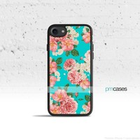 Teal Floral Phone Case Cover for Apple iPhone iPod Samsung Galaxy S & Note