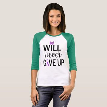 Will Never Give Up Fibromyalgia Awareness Shirt
