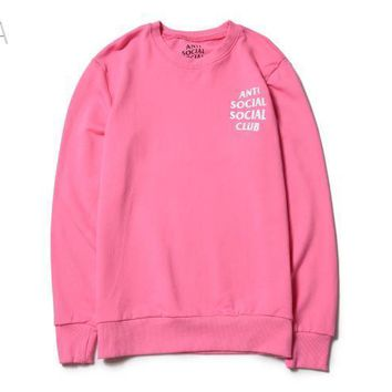 spbest Anti Social Social Club Pink / White Sweater