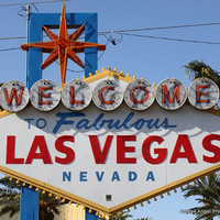 Welcome to Fabulous Las Vegas sign. Matted Fine art photograph