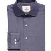 Spread Collar Chambray Dress Shirt
