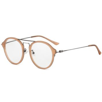 Acetate Optical Glasses Frame Women Metal Round Prescription Oliver Eyeglasses Fors Men Peoples High Quality Spectacles Eyewear