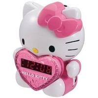 Hello Kitty AM/FM Projection Clock Radio with Battery Back-up Hello Kitty AM/FM Projection Clock Ra