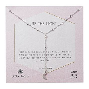 Dogeared Be The Light, Sparkle Cresent Y-Necklace