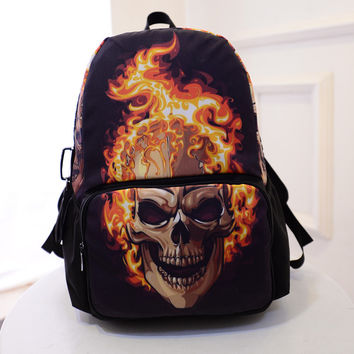 Skull Strong Character Innovative Print Backpack Travel Bags [6582643015]
