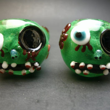 Green Zombie Glass Pipe