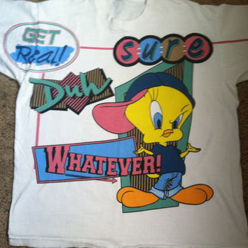 90s vintage Looney Tunes Tweety Bird shirt