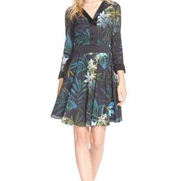 Women's Ted Baker London Twilight Floral Fit & Flare Dress,