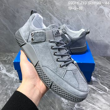 HCXX A950 Adidas Superstar Buckle 3d Carving Fashion Suede Casual Sports Board Shoes Gray