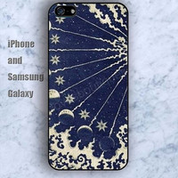 moon cartoon iPhone 5/5S Ipod touch Silicone Rubber Case, Phone cover