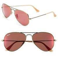 Women's Ray-Ban 'Original Aviator' 58mm Sunglasses - Bronze/ Red Mirror