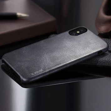 Luxury  Leather Phone Cases For Apple IPhone X