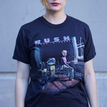 Vintage Concert Tour TShirt RUSH Power Windows Concert Tee