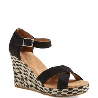 TOMS 'Mixed Rope' Wedge Sandal