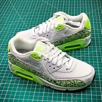 Nike Air Max 90 White Green Sport Running Shoes - Best Online Sale