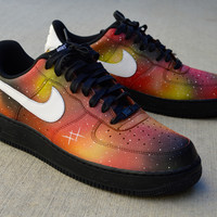 Custom hand Painted Solar Flare Galaxy Nike Air Force 1 Low