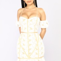 Lacey Lou Crochet Dress - White