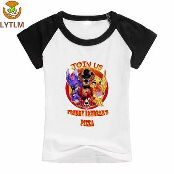 LYTLM  Boys Funny T Shirts Five Night At Freddy Baby Boy Clothes vetement enfant fille Cartoon Printed T-shirts for Girls