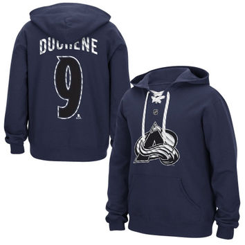 Matt Duchene Colorado Avalanche Reebok Lace Up Name & Number Hockey Hoodie - Steel Blue