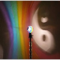 The ORIGINAL HandPainted Yin/Yang Rainbow MoodLight by MoodLights