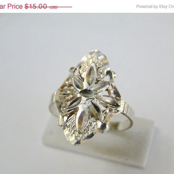 On SALE Sterling Ring Layered Sterling Silver Ring Size 7, Vintage Jewelry Sale