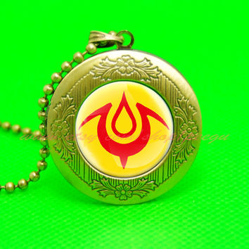 Fire emblem awakening mark of the exalt locket necklace, Fire emblem pendant necklace, girlfriend boyfriend gift