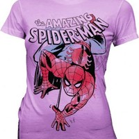 Spider-Man Climb Juniors Lilac T-shirt  - Spider-Man - | TV Store Online