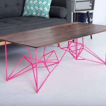 "Modern Coffee Table, Coffee Tables, Walnut Coffee Table, Sofa Table, Coffee Table Modern, Industrial Table: ""The Yoshi"""