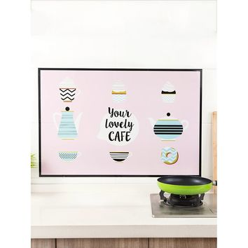 Cup Print Wall Sticker