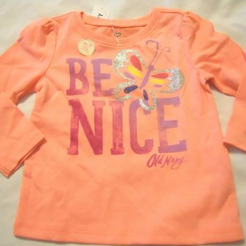 Girls Tee Shirts Sz 12-18M 18-24M 2T 3T 4T 5T Kids Toddler Infant Long Sleeve