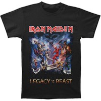 Iron Maiden Men's  Legacy Of The Beast T-shirt Black