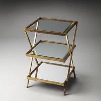 Butler Loft Delilah Antique Gold Tiered Side Table