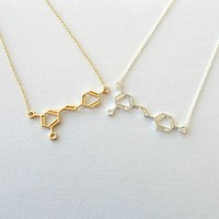 Wine Molecule Necklace - Wine Chemical Structure Pendant Necklace for Wine Lovers