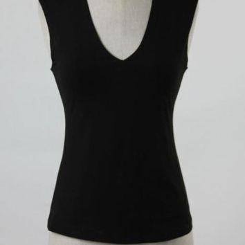 Vera Hunter Black Double Layer Tank