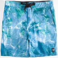 Tavik Palm Mens Boardshorts Green  In Sizes