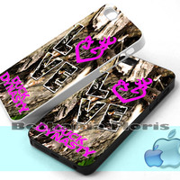 Love Browning Deer Camo Duck Dynasty - Print on hardplastic for iPhone 4/4s and 5 case, Samsung Galaxy S3/S4 case.