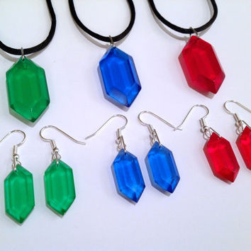 Legend of Zelda  Rupee Jewelry Set 7 Available by ChinookCrafts