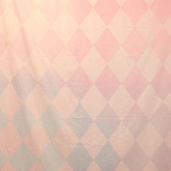 Pink and Blue Faded Diamond Pattern With Banding Platinum Cloth Backdrop 6x8 - LCPCSL333 - LAST CALL