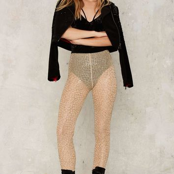 Jaded London Body Language Mesh Leggings