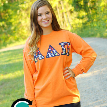 SALE! CUSTOM Comfort Colors Long Sleeve with Greek (Sorority or Fraternity) Letters
