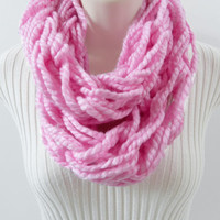 INFINITY SCARF Loop Cowl. Blossom Skinny Infinity Scarf, Cowl, Women's Winter Accessories, Circle Scarf. Knitted. Handmade.