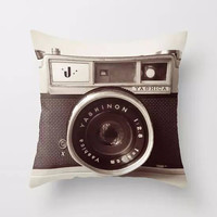 Soft Camera Printed Pillow Case Plush Pillowcase Printed Bedroom Chair Seat Cushion